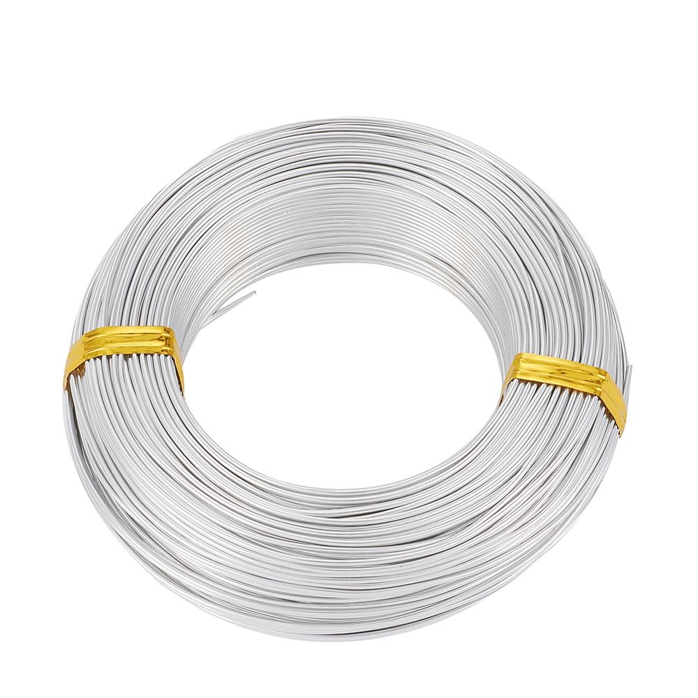 0.5mm 0.8mm 1mm 1.2mm 1.5mm 2mm 2.5mm 3mm 3.5mm 4mm 5mm 6mm Aluminum Wire for Jewelry Making Bracelet DIY Handwork Beading Wire