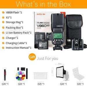 Image 2 - Godox V860II V860II C V860II N V860II S V860II F V860II O HSS TTL Speedlite Flash + X1 Trigger für Canon Nikon Sony Fuji Olympus