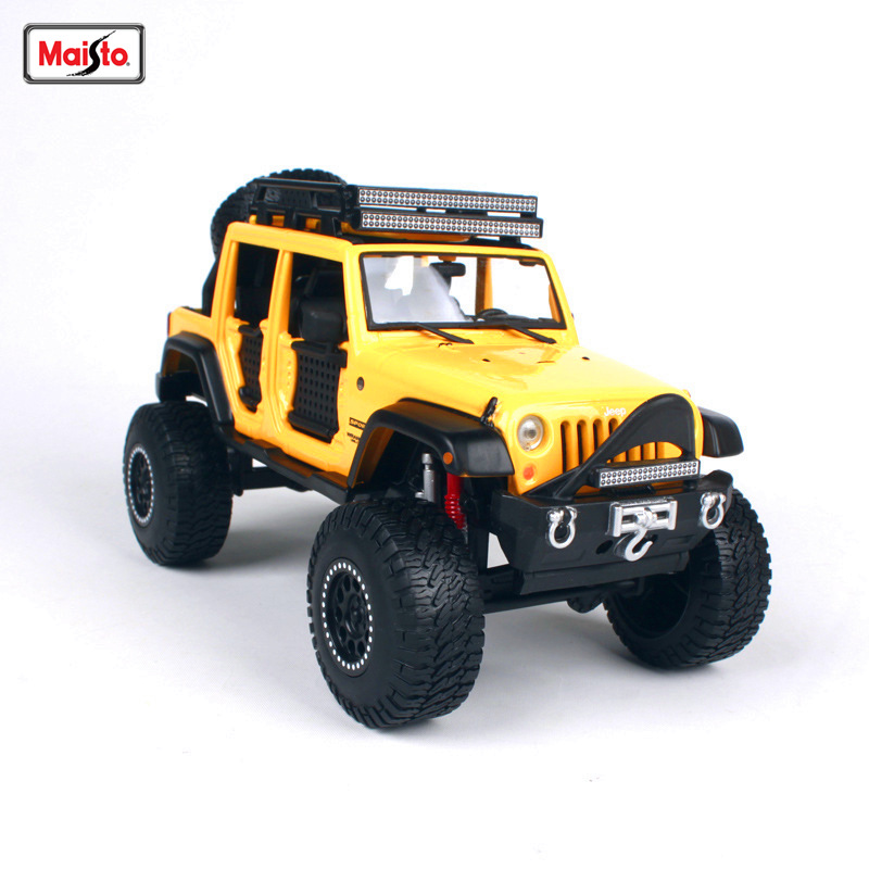 Maisto 1:24 Jeep Wrangler modified version Alloy car model die-casting model car simulation car decoration collection gift toy