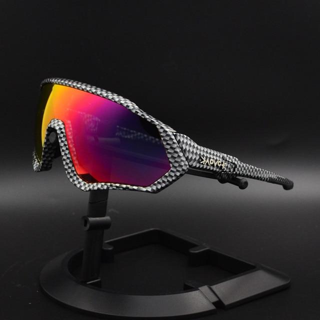Ciclismo eyewear esportes dos homens óculos de ciclismo mountain bike ciclismo óculos mulher ciclismo óculos uv400 5 lente 2