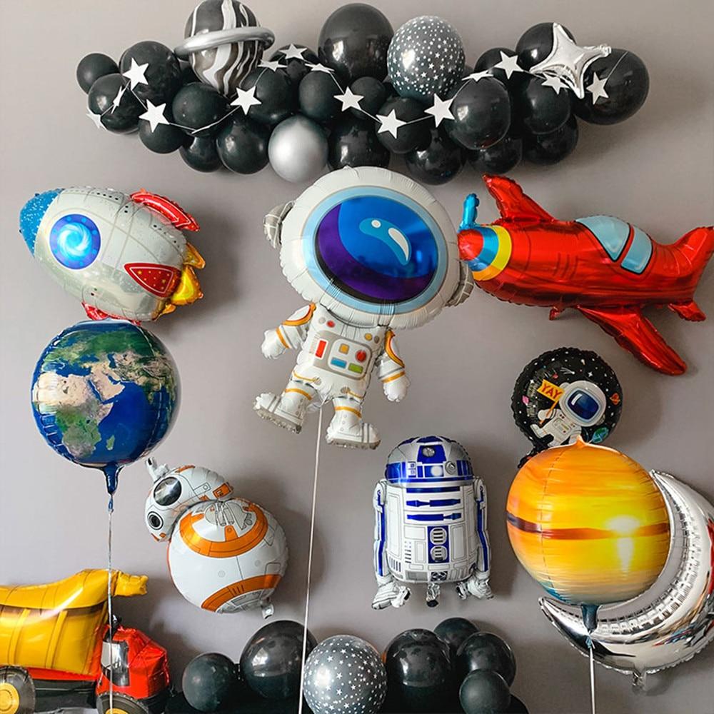 1 шт. воздушный шар космонавта из фольги, игрушка для маленького мальчика с днем рождения и планетой, вечерние украшения