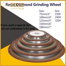 150-400# алмазное шлифовальное колесо отрезной диск полимерная связка шлифовальные станки для Вольфрам Сталь фреза точилка 75/80/100/125 мм 1 шт