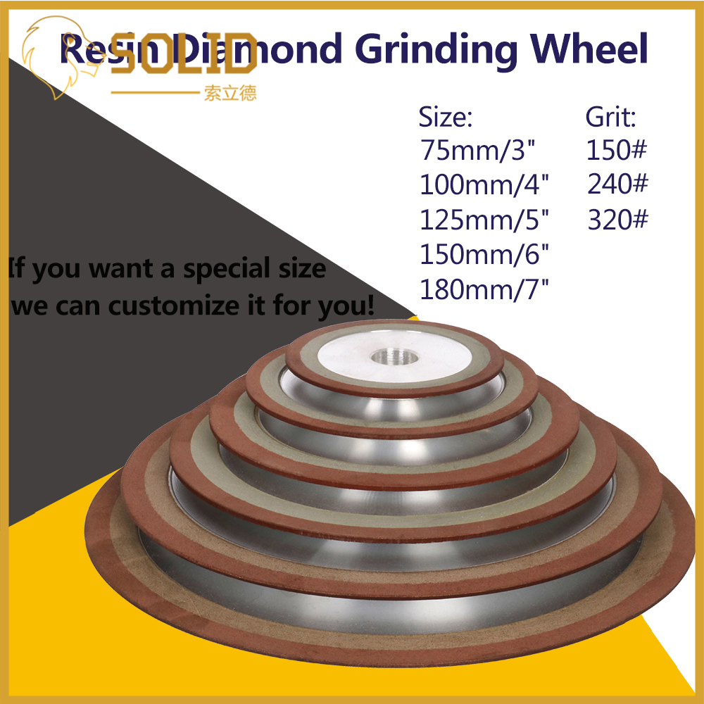 150-400# Diamond Grinding Wheel Cutting Disc Resin Bond Grinder For Tungsten Steel Milling Cutter Sharpener 75/80/100/125mm 1Pc