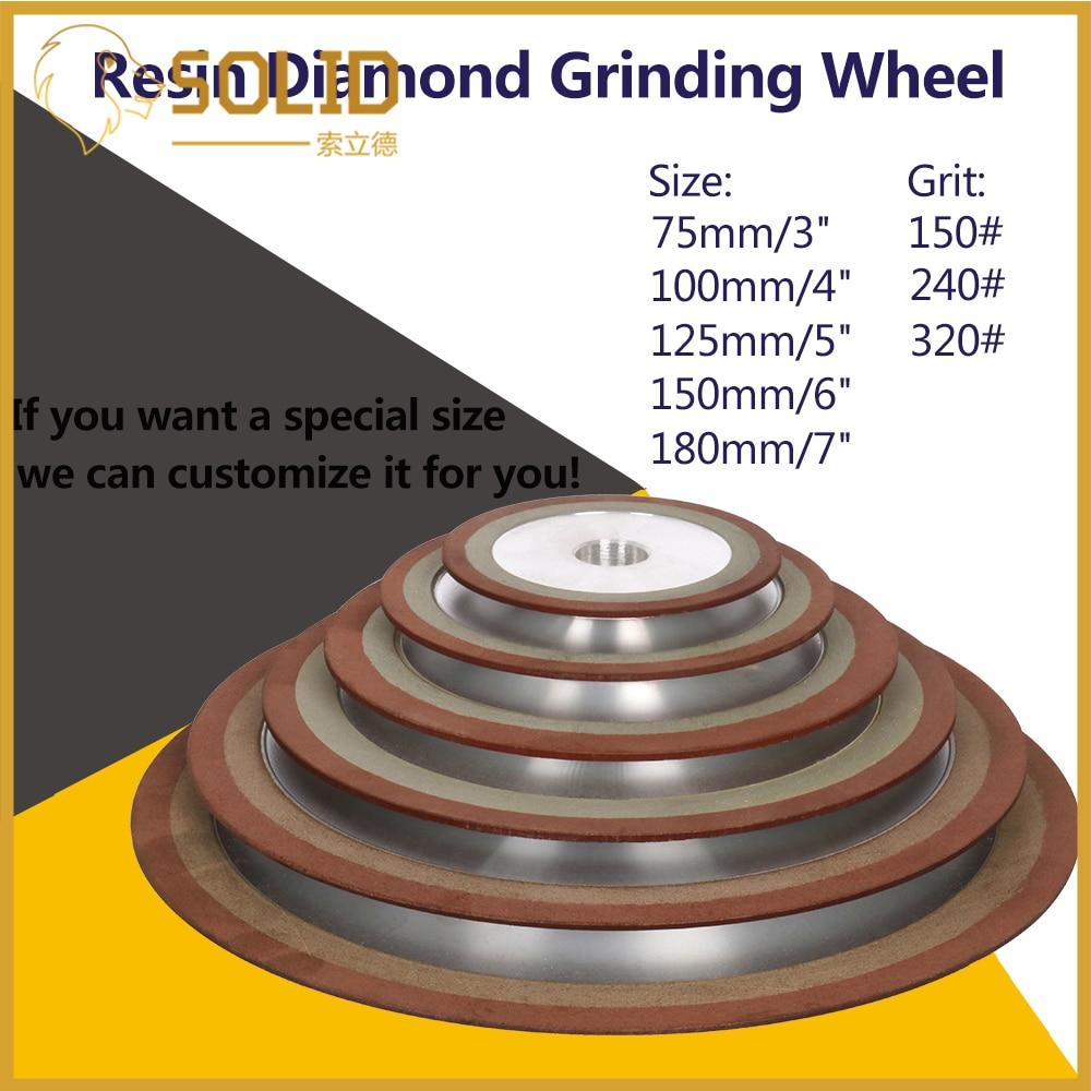 150-400# Diamond Grinding Wheel Cutting Disc Resin Bond Grinder For Tungsten Steel Milling Cutter Sharpener 75/80/100/125mm 1Pc