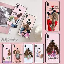 Fashion Queen Meisje Mom Baby Diy Luxe Telefoon Case Voor Xiaomi Redmi 4X5 Plus 6A 7 7A 8 mi8 8Lite 9 Note 4 5 7 8 Pro(China)