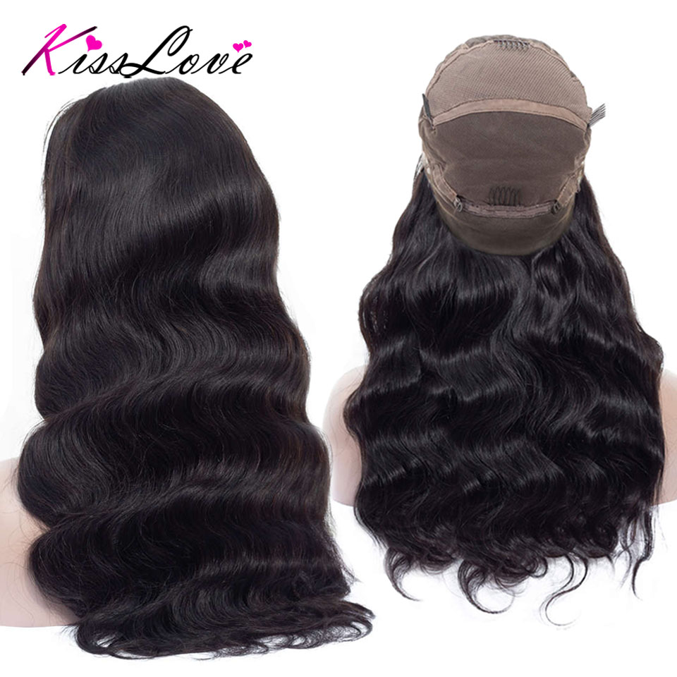 Full Lace Human Hair Wigs For Black Women Brazilian Body Wave Wigs Remy Hair Pre Plucked Bleached Knots Full End Kiss Love