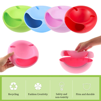 Lazy snack bowl plastic double-lay