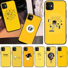 цена Yellow Aesthetic Art Pretty TPU black Phone Case Cover Hull For iphone6 6s plus 7 8 7 8 plus X XR XS MAX 11 Pro Max Cover онлайн в 2017 году