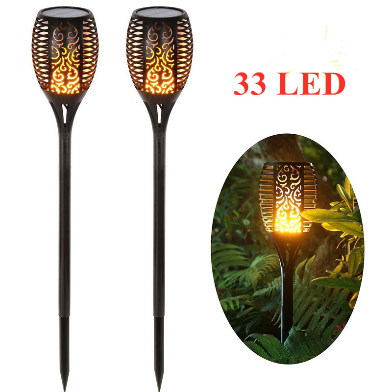 Spotlights Garden Outdoor Lamp Flame 33 Torch-Shaped Wall-Lawn Flick LED Induct Landscape