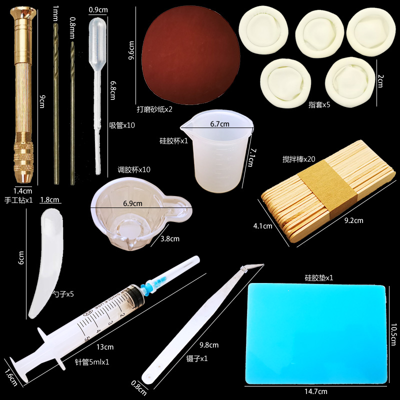 DIY Epoxy Resin Ring Bracelet Molds Jewelry Making Tool Kit With Resin