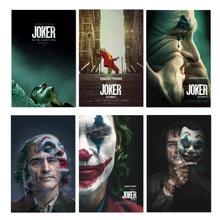 Póster de seda de 2019 película Joker, impresiones de la película del Joker Origin, fotos de cómics Arte de la pared Decoración, carteles de película de Joaquin Phoenix de 24x36 pulgadas