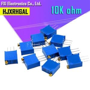 10pcs 3296W-1-103LF 3296W 10K ohm 103 3296W-1-103 3296W-103 W103 Trimpot Trimmer Potentiometer(China)