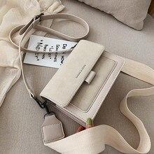 Sac à bandoulière à large bande pour femmes, sacoche de luxe de styliste pour téléphone portable, nouvelle collection 2020