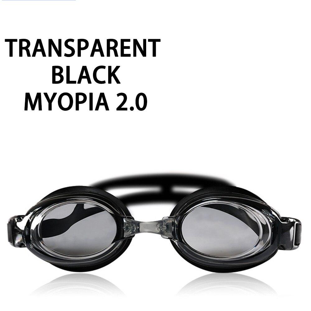 Оптическая близорукость плавательные очки 200-800 градусов Силиконовые противотуманные водная диоптрия плавательные очки для мужчин и женщин очки по рецепту - Цвет: Myopia 200