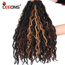 "Leeons 12/18"" Nu Locs Ombre Braids Kanekalon Dread Faux Loc Bohemian Ombre Braiding Hair Synthetic Weave Braids Hair Extensions(China)"
