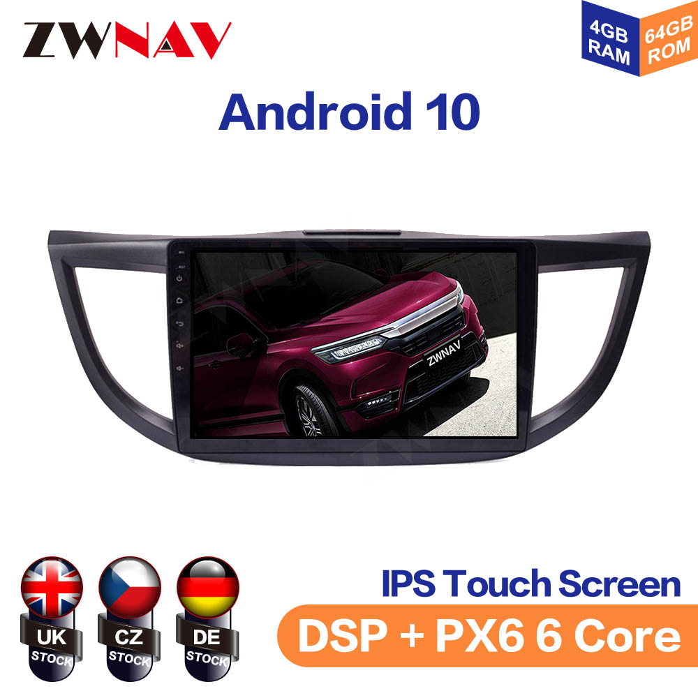 Android 10 IPS Screen For Honda CRV 2012-2016 Car Multimedia Player Navigation Audio Radio Stereo Head Unit Gps 2 din auto image