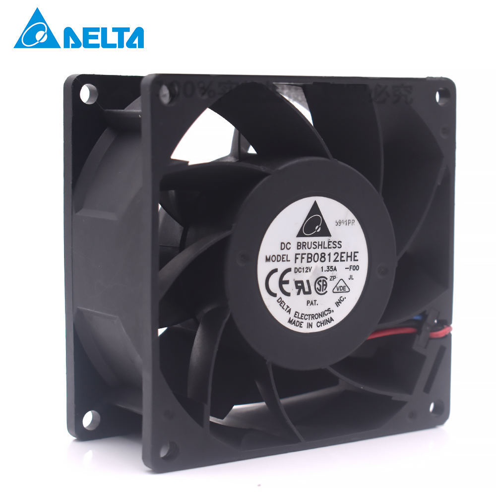 Original for delta for Sensflow WFC1212B 12cm dual ball bearing 12025 thermostat Silent Chassis Fan