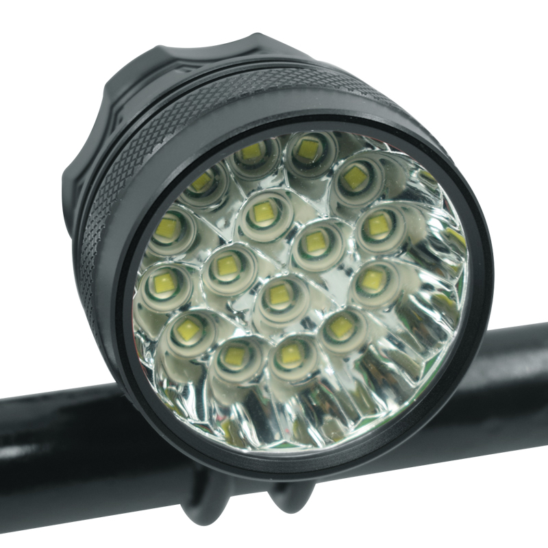 <font><b>T6</b></font> <font><b>Bicycle</b></font> <font><b>Lights</b></font> Headlight 16 XM-L <font><b>LED</b></font> 40000 Lumen Bike Front <font><b>Light</b></font> Lamp Rechargeable Cycling Headlamp for Outdoor Night Riding image
