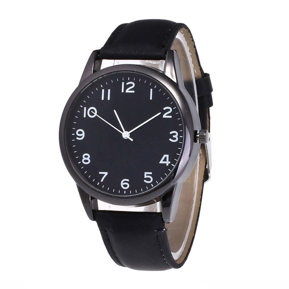 2019 Best Sell Watches Couple Fashion Leather Band Analog Quartz Round Wrist Watch Business Women Men's Watch Relogio Masculino