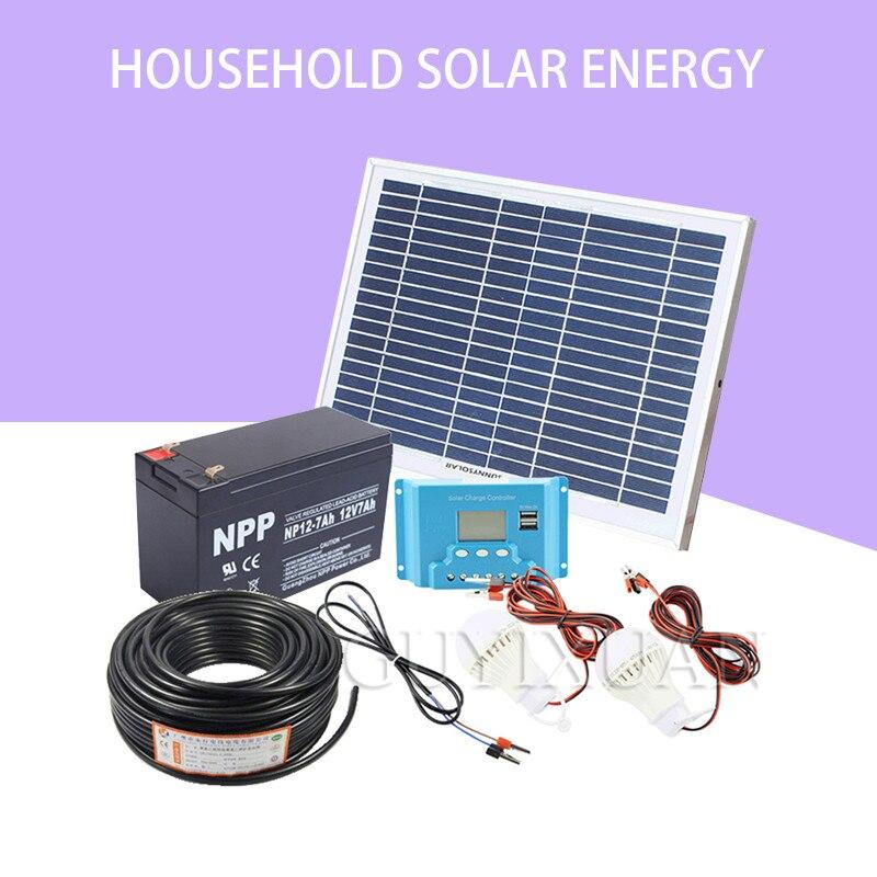 Домашнее освещение солнце может генерировать систему зарядки телефона наружного освещения солнечной панели
