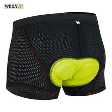 Bicycle Shorts Cycling-Underwear WOSAWE Anti-Sweet Shockproof MTB Upgrade-Gel-Padded