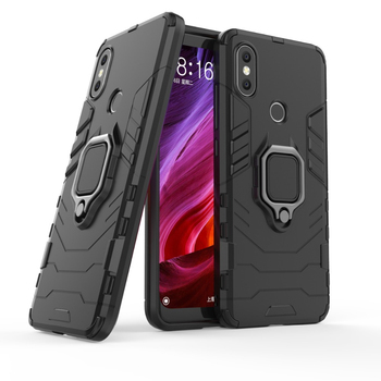 Luxury Shockproof armor case For xiaomi mi 8 5X A1 6X A2 redmi note 5 case with ring stand For Xiaomi Max 3 Car Magnetic Holder image