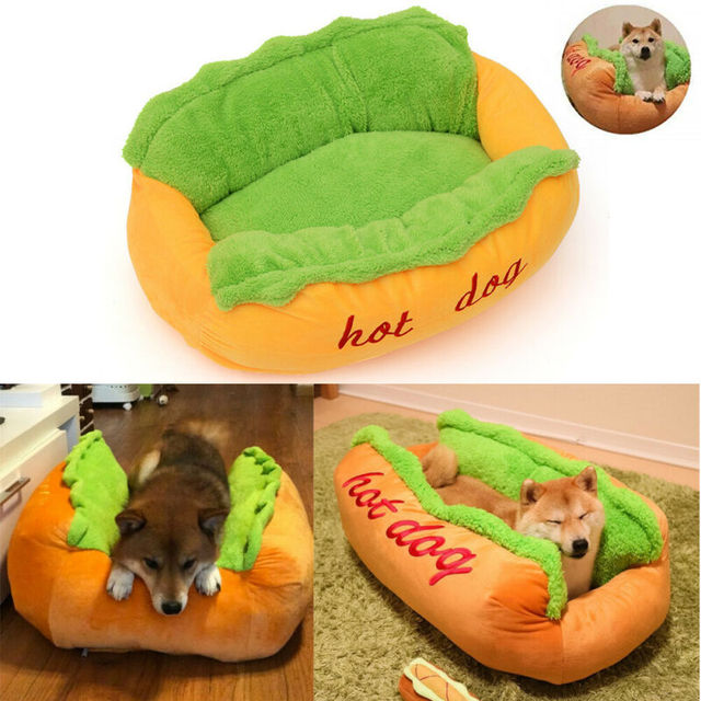 Funny Hot Dog Bed Winter Warm Pet House Creative Fashion Sofa Cushion Supplies Puppy Cat Soft Sleeping Mat Cozy Dogs Nest Kennel 2