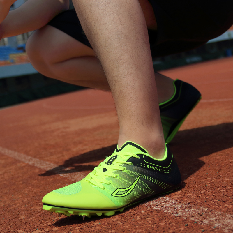 Professional Spikes Running Student Competition Track and Field Shoes Training Sports Shoes Racing Lightweight Spikes Trainer