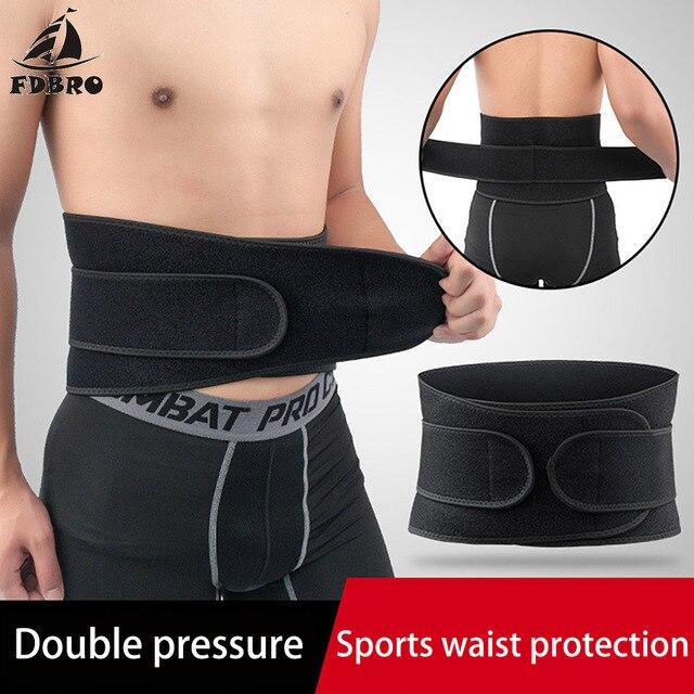 FDBRO Waist Support Corset Sport Breathable Adjustable Back Belt Slimming Boxing Body Protective Gear Waist Trimmer Sweat Belt