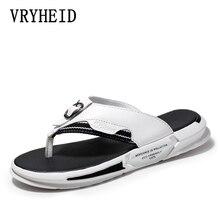 VRYHEID sandales en cuir pour hommes, marque de luxe, tongs en cuir de haute qualité, à la mode, été 2020