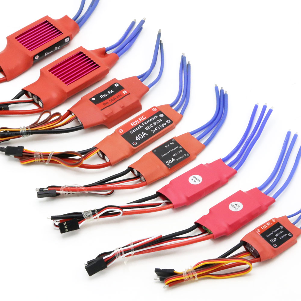 RCPro 10A 12A 15A 20A 30A 40A 50A 70A 80A Firmware Electronic Speed Controller ESC for RC Multicopter Helicopter