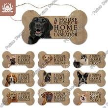 Putuo Decor Dog Bone plakietka z napisem drewno piękny przyjaźń drewniany naszyjnik na drewniany znak psia buda dekoracje dekoracje ścienne nieśmiertelnik