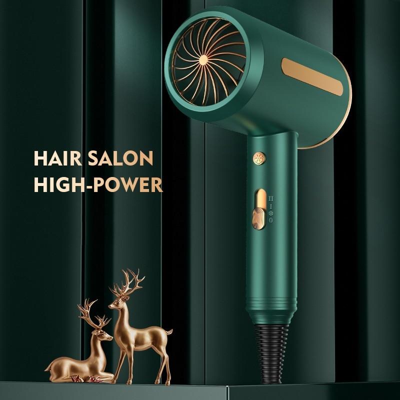 2000W Professional Hair Trockner 220V Elektrische Trockner Haar Hammer Haartrockner Schlag Negative Ionen Blau licht Mini Gebläse Trocken starke Wind