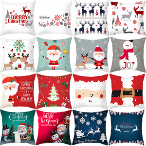 Christmas Cushion Cover Decorative Sofa Pillow Cover Case Seat Car Home Decor Throw Pillowcase Christmas Decoration For Home