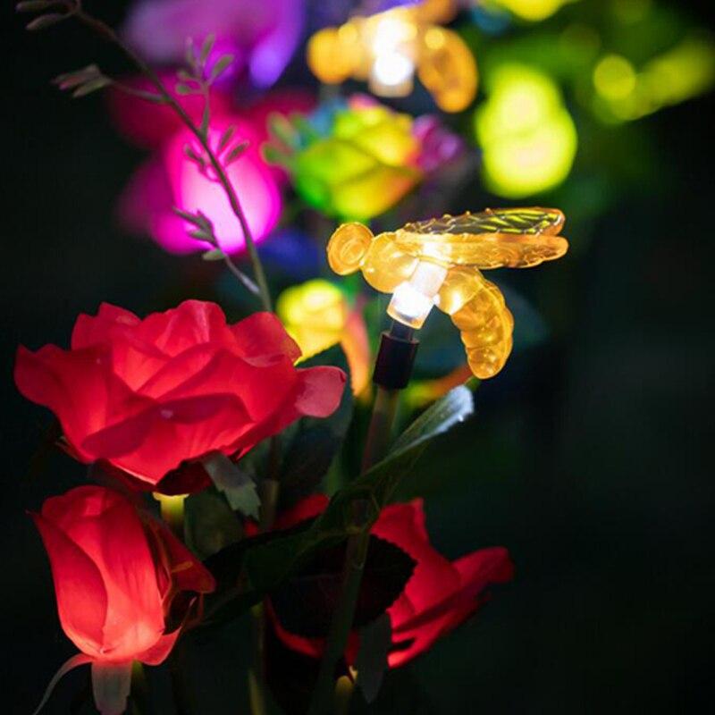 solar lampada para quintal caminho ao ar 04