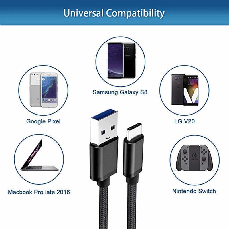 Tipo C usb de carga de cable para ZTE Axon 7 mini 9 pro Nubia Z17 M2 Honor 9 Nota 10 8 HTC 10 evo teléfono