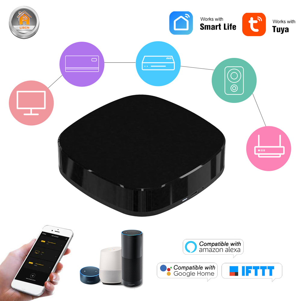 Smart Alexa Controller WiFi IR Infrared Remote Controller IOS Android For Google Home Automation Voice Conditioner TV Smart Home