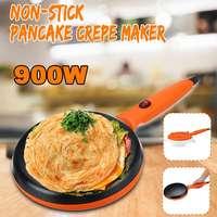 효율적인 비 스틱 전기 크레페 피자 메이커 팬케이크 기계 비 스틱 철판 베이킹 팬 케이크 기계 주방 요리 도구