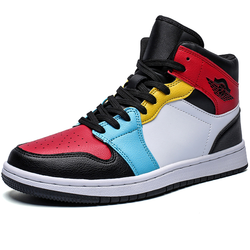 Men Brand High Top Leather Superstar Fashion Sneakers Men Casual Shoes Male Flats Boots Rubber Mens Designer Shoes Walking Black
