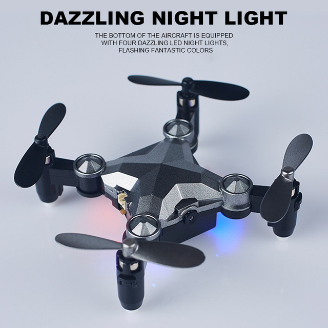 NEW Folding Unmanned Aerial Vehicle Travel Watch Four-axis Remote Control Intelligent WIFI Mini Folding Gravity Induction Drone 1