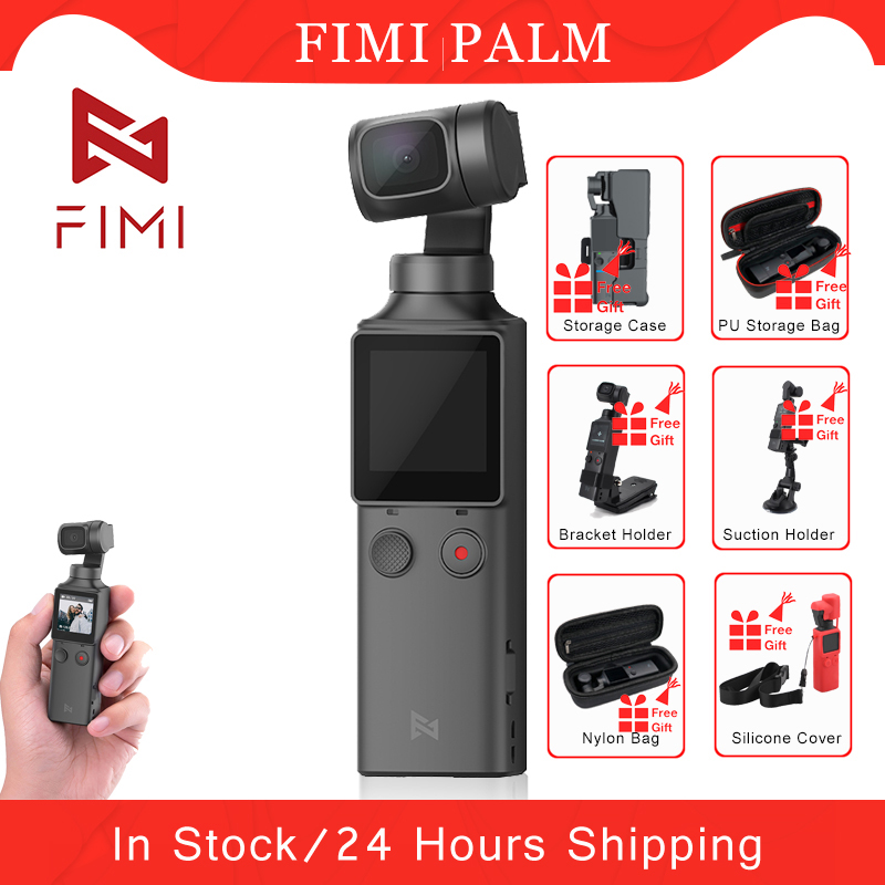 FIMI PALM Handheld Gimbal Camera Stabilizer 3-Axis 4K UHD 128 Degree Wide Angle Original FIMI Pocket Camera Accessories  Gift