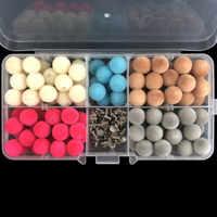 YORANYO 110 наборов Смешанные 10 мм Цветные флокированные акриловые круглые заклепки шпильки кожа-ремесло для сумок обувь браслеты