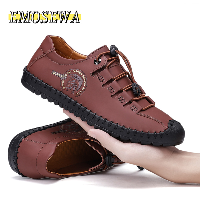 New Hot Sale Designer Shoes Men Casual Shoes Loafers Men Shoes High Quality Leather Shoes Men Flats Moccasins Shoes Plus Size