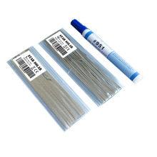 10 mètres Tabbing Tab fil + 1 mètres PV ruban Bus fil + 1pc 951 soudure colophane Flux stylo pour bricolage soudure solaire cellule panneau