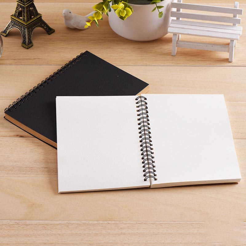 Sketchbook Diary for Drawing Painting Graffiti Soft Cover Black Paper Sketch Book Memo Pad Notebook Office School Supplie 3