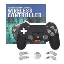 Controle de videogame para ps4 e ps3, joystick sem fio com bluetooth, vibração dupla, para console de jogos elite