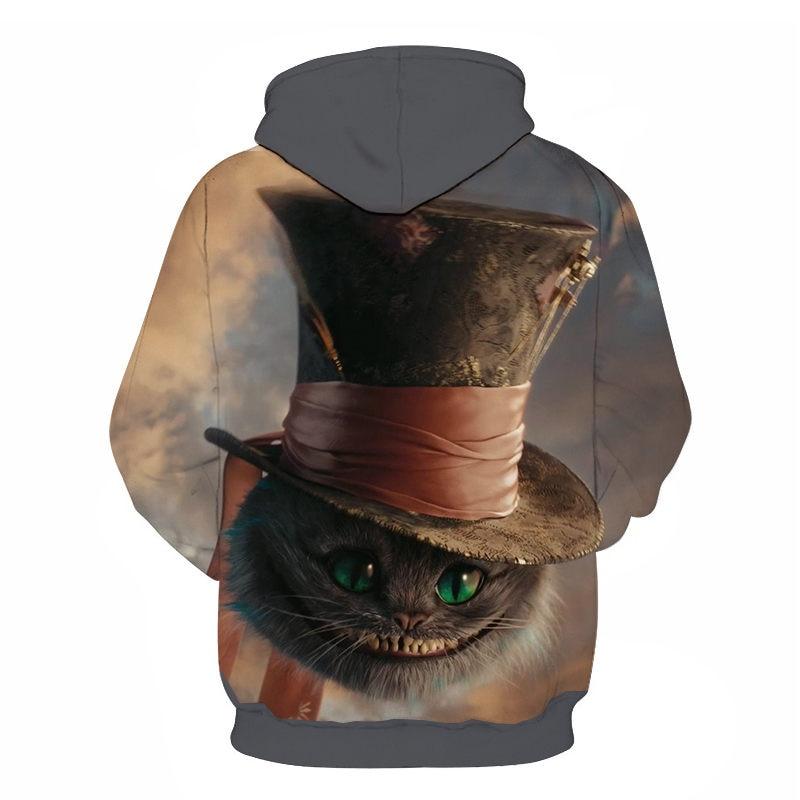 Women's Two Cat Sweatshirts Long Sleeve 3D Hoodies Sweatshirt Pullover Tops Blouse Pullover Hoodie Poleron mujer Confidante Tops 66