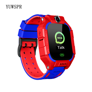 """Image 4 - Tracker Children Smart Watches Waterproof LBS Positioning 1.44"""" Touch Screen Camera Fashlight IOS Android Kids Smart Clock Q19"""