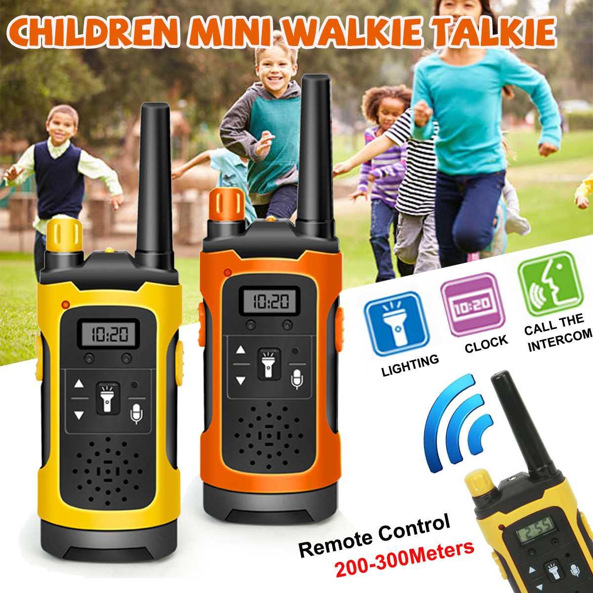 2pcs Mini 200-300M Kids Walkie Talkies Toy Child Electronic Radio Voice Interphone Toy Outdoor Wireless Walkie Talkies Toy