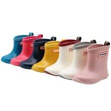 Dziecięce kalosze dziewczęce chłopcy Rainboots wodoodporny PVC w połowie łydki buty do wody miękkie gumowe antypoślizgowe kalosze dziecięce maluch